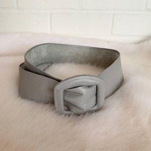 Vintage Suede / Leather Grey Belt